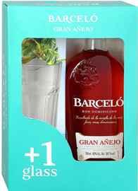 Ром «Ron Barcelo Gran Anejo» в подарочной упаковке со стаканом