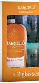 Ром «Ron Barcelo Gran Anejo» в подарочной упаковке с двумя стаканами