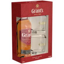 Виски шотландский «Grant's 8 Years Old» в подарочной упаковке с двумя стаканами