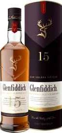 Виски шотландский «Glenfiddich 15 Years Our Solera Fifteen» в тубе