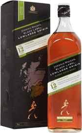 Виски шотландский «Johnnie Walker Black Label Lowlands Origin» в подарочной упаковке