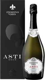 Вино игристое белое сладкое «Abbazia Fiorino d'Oro Asti Spumante Dolce» в подарочной упаковке