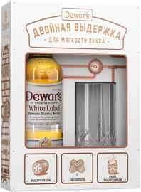 Виски шотландский «Dewar's White Label» в подарочной упаковке со стаканом хайбол (высокий стакан)