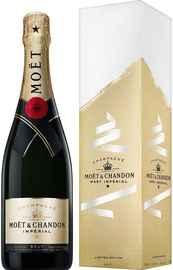 Шампанское белое брют «Moet & Chandon Brut Imperial» в подарочной коробке