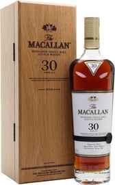 Виски шотландский «The Macallan 30 Year Old Sherry Oak» в деревянной подарочной упаковке