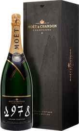 Шампанское белое брют «Moet & Chandon Grand Vintage 1978» в подарочной упаковке
