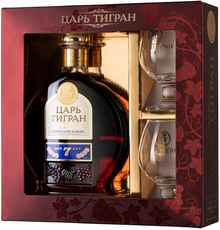 Коньяк армянский «Tsar Tigran 7 Years» 2013 г., в подарочной упаковке с 2-мя бокалами