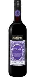 Вино красное полусухое «Stamp Cabernet Merlot South Eastern Australia Hardy's» 2019 г.