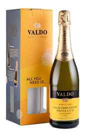 Вино игристое белое брют «Valdo Marca Oro Prosecco Superiore» 2019 г., в подарочной упаковке