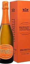 Вино игристое белое сухое «Tintonelli Prosecco Spumante Extra Dry San Matteo, 0.75 л» в подарочной упаковке