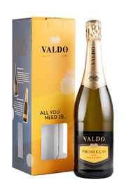 Вино игристое белое сухое «Valdo Prosecco» в подарочной упаковке