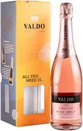Вино игристое розовое брют «Valdo Marca Oro Rose Brut» 2019 г., в подарочной упаковке