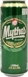 Пиво «Mythos» в жестяной банке