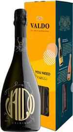 Вино игристое белое брют «Valdo Origine Brut» в подарочной упаковке