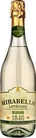 Вино игристое белое полусладкое «Lambrusco Mirabello Bianco»