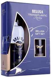 Водка «Beluga Transalantic Racing» в подарочной упаковке со стаканом Рокс