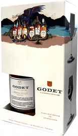 Коньяк французский «Godet Original VSOP» в подарочной упаковке с 2-мя бокалами