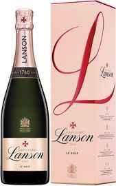 Шампанское розовое брют «Lanson Rose Label Brut Rose» 2015 г., в подарочной упаковке