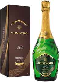 Вино игристое белое сладкое «Mondoro Asti» в подарочной упаковке