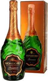 Вино игристое белое сухое «Mondoro Prosecco» в подарочной упаковке