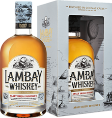 Виски ирландский «Lambay Malt Irish Whiskey 3 YO» в подарочной упаковке