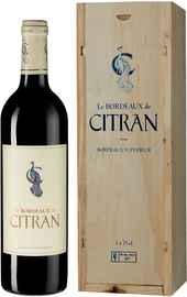 Вино красное сухое «Le Bordeaux de Citran Rouge» 2018 г., в подарочной упаковке