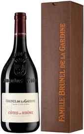 Вино красное сухое «Cotes du Rhone Brunel de la Gardine» 2019 г., в подарочной упаковке