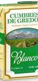 Вино столовое белое сухое «Cumbres De Gredos»