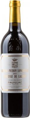 Вино красное сухое «Chateau Pichon Longueville Comtesse de Lalande» 2007 г.