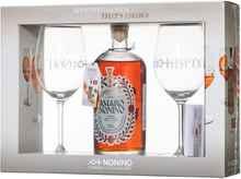 Ликер «Quintessentia Amaro» в подарочной упаковке с 2-мя бокалами