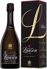 Шампанское белое брют «Lanson Le Black Reserve Brut» 2014 г., в подарочной упаковке