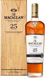 Виски шотландский «The Macallan 25 Year Sherry Oak» в подарочной упаковке