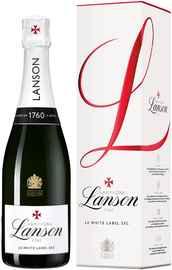 Шампанское белое полусухое «Lanson White Label Dry-Sec» 2015 г., в подарочной упаковке