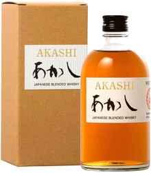 Виски японский «Akashi Blended, 0.5 л» в подарочной упаковке