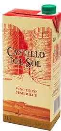 Вино красное полусладкое «Castillo del Sol (Tetra Pak), 1 л»