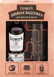 Виски шотландский «Dewar's 12 years old» в подарочной упаковке со стаканом
