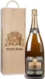 Вино игристое белое брют «Monte Rossa P. R. Brut Blanc de Blancs» в подарочной упаковке
