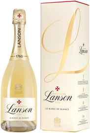 Шампанское белое брют «Lanson Le Blanc de Blancs Brut» 2014 г., в подарочной упаковке