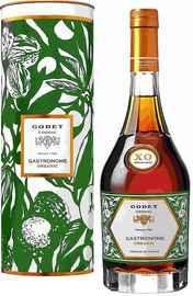 Коньяк французский «Cognac Godet Gastronome Organic XO» в тубе