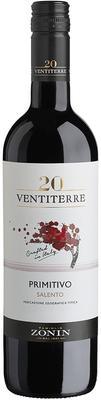 Вино красное полусухое «Zonin Primitivo Salent» вино с защищенным географическим указанием Апулия
