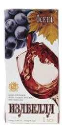 Вино столовое красное полусладкое «Изабелла Осень Тетра-Пак»