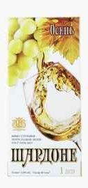 Вино столовое белое полусладкое «Осень Шардоне Тетра-Пак»