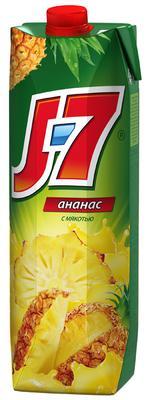 Сок «J7 Ананасовый, 0.2 л» с мякотью