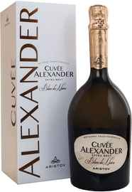 Вино игристое белое экстра брют «Aristov Cuvee Alexander Blanc De Noirs» в подарочной упаковке