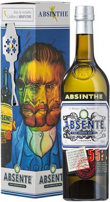 Абсент «Absente 55» в подарочной упаковке с ложкой