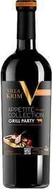 Вино столовое красное полусладкое «Villa Krim Appetite Collection Grill Party»
