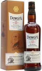 Виски шотландский «Dewar's 12 years old» в подарочной упаковке