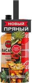 Ром «Bacardi Spiced» в подарочной упаковке с 2 банками Кока-Кола