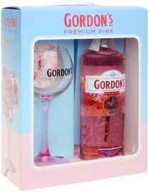 Напиток спиртной «Gordon's Premium Pink» в подарочной упаковке с бокалом