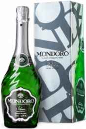 Вино игристое белое полусухое «Mondoro Silver Semi Secco» географического указания регион Пьемонт, в подарочной упаковке